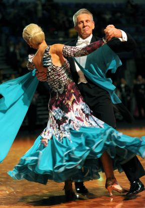 Performing in the Masters 2 category are Lance Emery and partner Ina Stockdale from NSW.