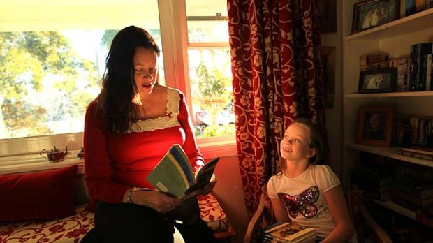 Never-ending tale ... author and Enid Blyton fan Kate Forsyth reads to her daughter, Ella.