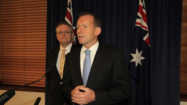 """The Coalition will never support Malaysia""... Opposition Leader Tony Abbott and immigration spokesman Scott Morrison ..."