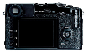 Fusion of classic and cutting-edge ... the X-Pro1's hybrid viewfinder.
