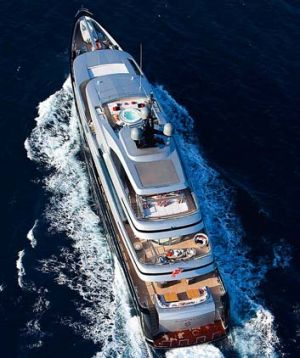 Ready to party ... Jack Cowin's $50 million superyacht, Slipstream.