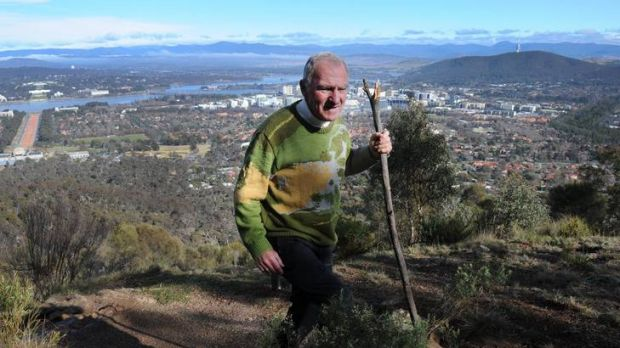 Retired Roman Catholic Auxiliary Bishop of Canberra and Goulburn, 70 year old, Pat Power, regularly walks the trail to ...