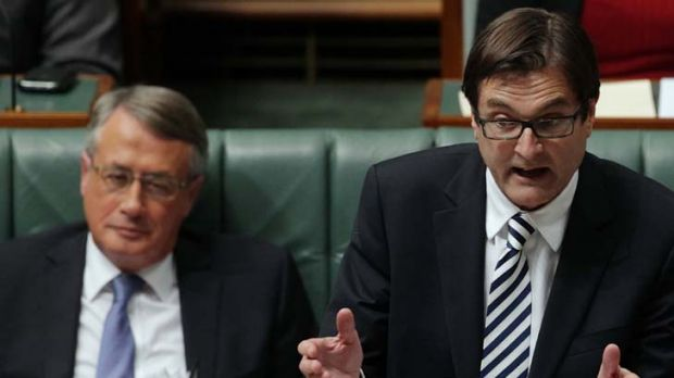 """Critical ... Climate Change Minister Greg Combet of the Coalition's """"Direct Action""""."""
