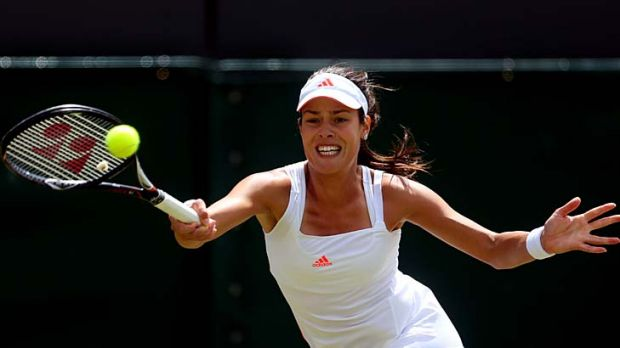 Ana Ivanovic of Serbia is one match shy of her first grand slam quarter-final appearance since 2008.
