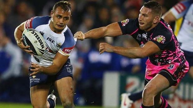 New signing Anthony Mitchell in action for the Cowboys.