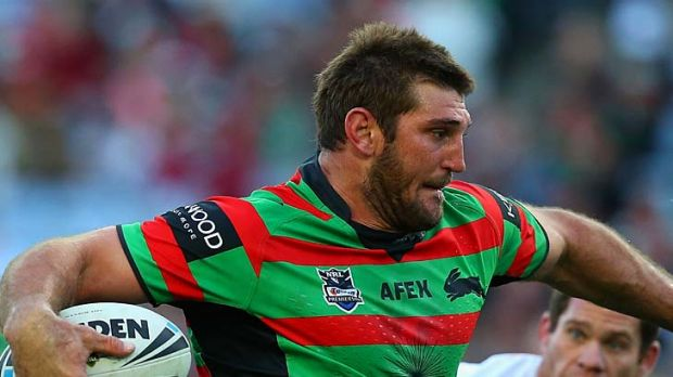 Spurned Queensland Origin forward Dave Taylor scored the opening try for the Rabbitohs.