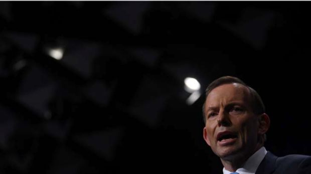 Doomsayer ... Labor is hoping to explode Tony Abbott by exposing the breathlessness of his claims.