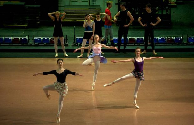 Dancers in action.