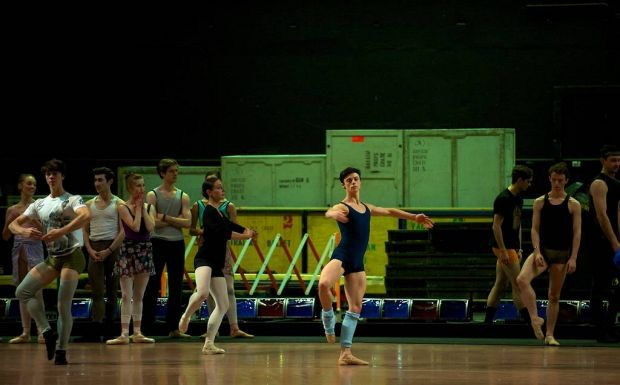 Stars of the Australian Ballet perform in an on-stage class.