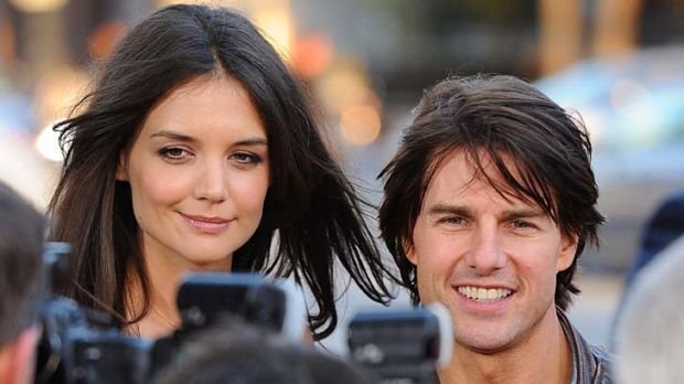 Doomed marriage ... Tom Cruise and Katie Holmes, pictured in March 2011.