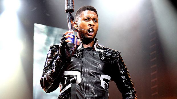 Usher's vocals betray the smallest amount of trouble.