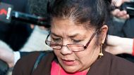 Shirley Singh speaks to media outside the supreme court in brisbane after The guilty Verdict of Max Sica. 3rd of July ...