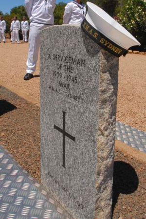 The unknown sailor was reburied at the Geraldton War Cemetery in Western Australia.