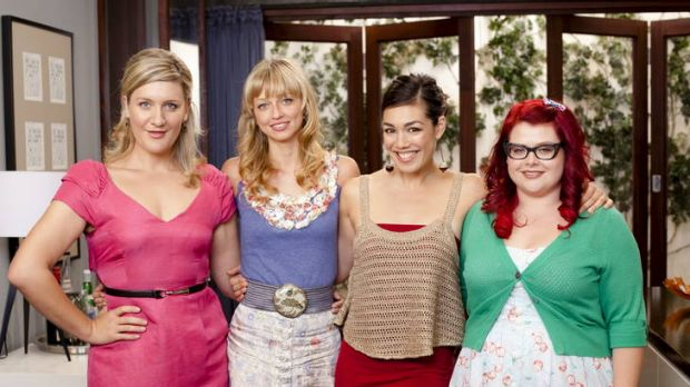 The antics of gal pals Frances (Virginia Gay), Bec (Zoe Tuckwell-Smith), Sophie (Melanie Vallejo) and Jenny (Melissa ...