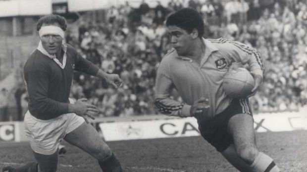 A master of the second touch … Mark Ella representing the Wallabies in July 1983.
