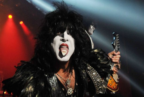 Paul Stanley of US rock group Kiss performs live on stage, for a one-off Independence Day show as a fundraiser for the ...