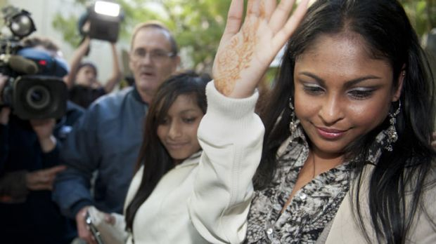 Shiv Sica, the wife of convicted murderer Max Sica, outside court.