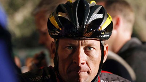 Hitting out ... seven-time Tour de France winner Lance Armstrong.