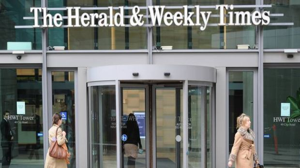 The Herald and Weekly Times building at Southgate.