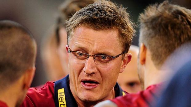 "Melbourne coach Mark Neeld: ""All we did was present the selected Richmond players and talk about their style of play. We ..."