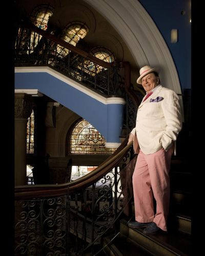 """I love it because it's still there, Humphries says of the QVB, where he's pictured on the ornate stairways on the York ..."