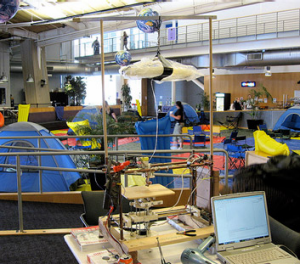 Fun guys ... tents inside the Googleplex.