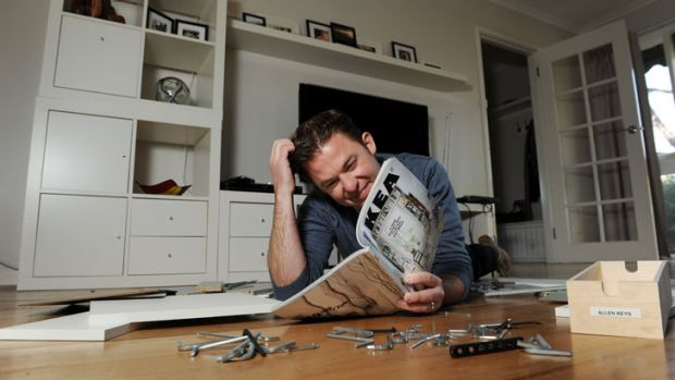 Ikea fanatic ... Todd Wright has spent over $20,000 on the Swedish furniture.
