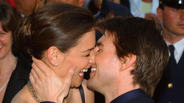 Happier times ... Tom Cruise and Katie Holmes.