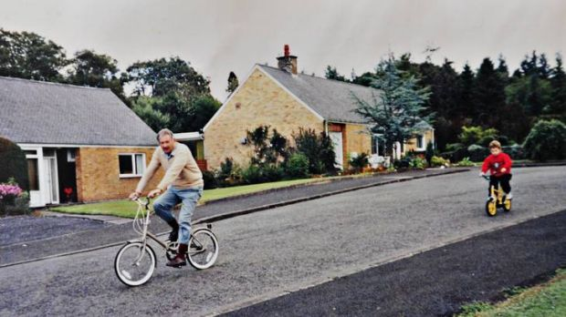 Photos provided by Jim Cullens shows Jim teaching a young Andy Murray how to ride a bike.