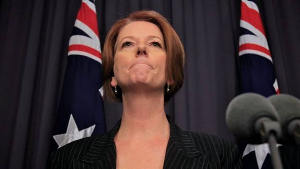 Hitting out ... Prime Minister Julia Gillard.
