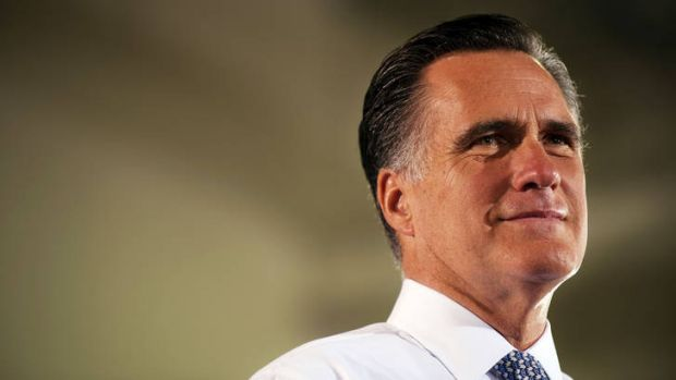 Under fire ... Mitt Romney.
