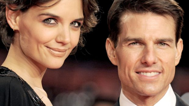 Lucky in loveless? ... Katie Holmes and Tom Cruise.