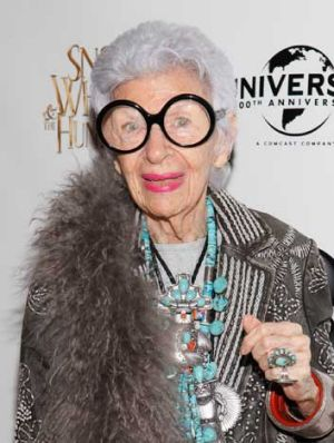 Iris Apfel, ever-eccentric fashion's darling and face of MAC at age 90.