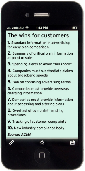 Accompanies story on changes to telco laws, July 12, 2012