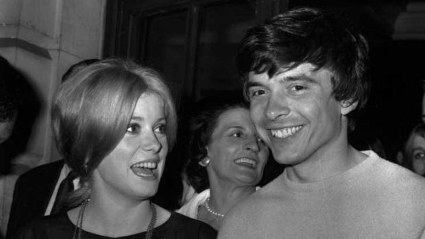 David Bailey, fashion photographer, with his second wife, Catherine Deneuve, in 1965.