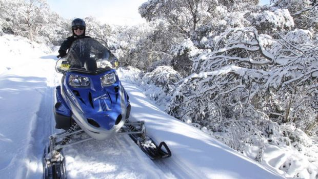 If you want a break from skis, try snowmobiles.