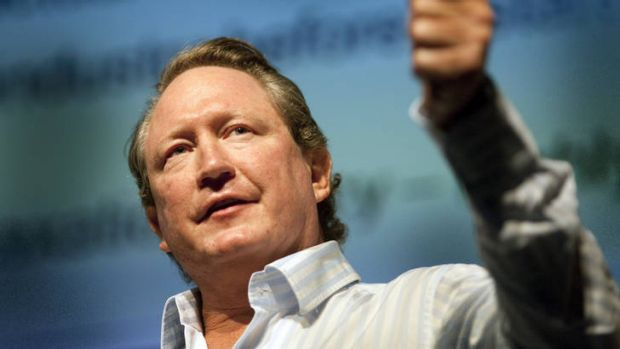 Out of his hands ... Andrew Forrest's Fortescue needs the iron ore price to go up.