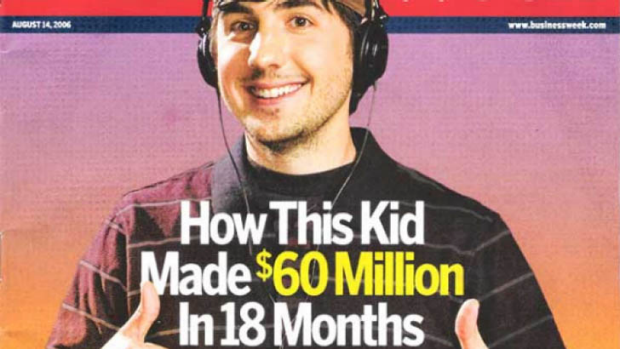Digg founder Kevin Rose in 2006 on the cover of BusinessWeek.