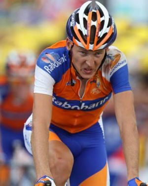 Robert Gesink during stage six of the 2012 Tour de France from Epernay to Metz. Dutchman Gesink has been suffering from ...