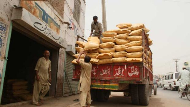 These bags of fertiliser are part of the bombs the Taliban are using to attack Australian trooops in Afghanistan.