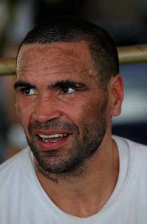 Heckled ... Anthony Mundine.
