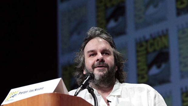 Sneak peak ... director Peter Jackson at the panel discussion for <Em>The Hobbit: An Unexpected Journey</em>.
