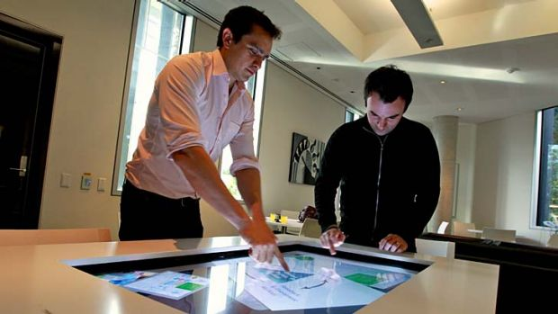 Collaborative learning ... PhD candidates at the University of Sydney Roberto Martinez and Richard Gluga with an ...