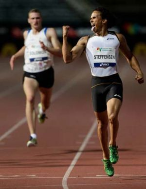 Running hot: John Steffensen wins in Sydney earlier this year, followed by Steve Solomon.