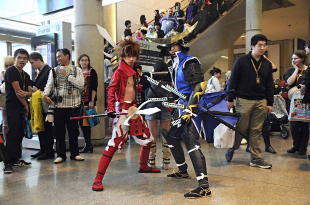 Cosplayers at the SMASH convention.