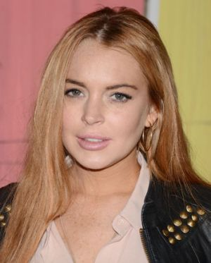 Getting her career back on track ... Lindsay Lohan in May.