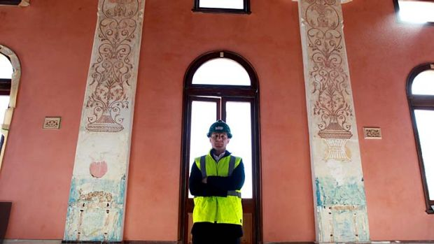 Italian intricacies … City of Sydney's architecture design manager, Chris McBride, with the discovery at Glebe ...