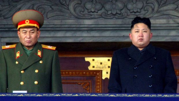This file picture shows Ri Yong-Ho, left, with Kim Jong-Un, right, attending the mourning service for late North Korea ...