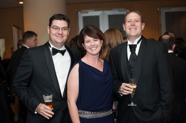 Darren and Kristy Christopherson with Stuart Strickland.