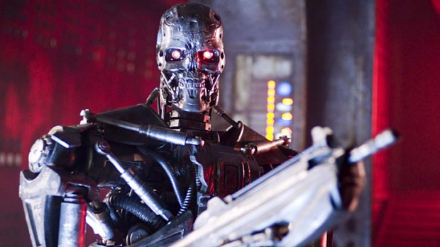 """Tallinn believes the rise of super intelligent machines - fictionalised in The Terminator - could lead to a """"sudden ..."""